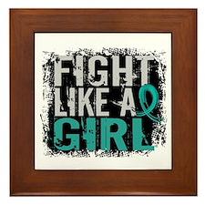 Fight Like a Girl 31.8 PKD Framed Tile
