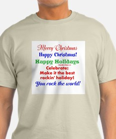 Funny Holiday Greetings Men's T-Shirt