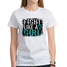 Fight Like a Girl 31.8 Ovarian Cancer Tee