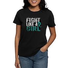 Fight Like a Girl 31.8 Ovarian Cancer Tee