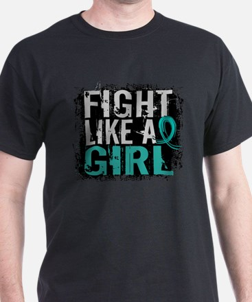 Licensed Fight Like A Girl 31.8 Ovari T-Shirt