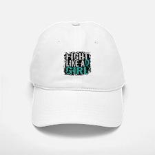 Licensed Fight Like A Girl 31.8 Ovarian Cancer Baseball Baseball Cap