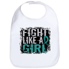 Licensed Fight Like A Girl 31.8 Ovarian Cancer Bib