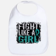 Licensed Fight Like A Girl 31.8 Ovarian Cancer Bib