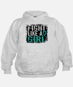 Licensed Fight Like A Girl 31.8 Ovaria Hoodie