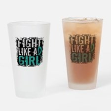 Licensed Fight Like A Girl 31.8 Ova Drinking Glass