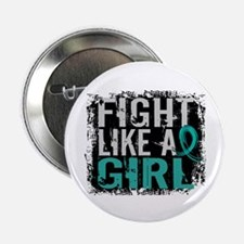 """Licensed Fight Like A Girl 31.8 Ovari 2.25"""" Button"""