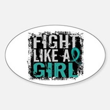 Licensed Fight Like A Girl 31.8 Ova Decal