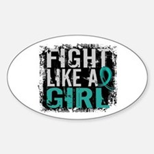 Licensed Fight Like A Girl 31.8 Ova Stickers