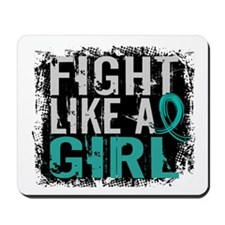Licensed Fight Like A Girl 31.8 Ovarian Mousepad