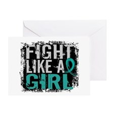 Licensed Fight Like A Girl 31.8 Ovar Greeting Card