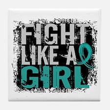 Licensed Fight Like A Girl 31.8 Ovari Tile Coaster