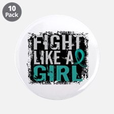 "Licensed Fight Like A Girl 3 3.5"" Button (10 pack)"