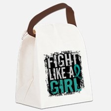 Licensed Fight Like A Girl 31.8 O Canvas Lunch Bag