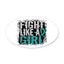 Licensed Fight Like A Girl 31.8 Ov Oval Car Magnet