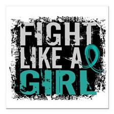 """Licensed Fight Like A Gi Square Car Magnet 3"""" x 3"""""""