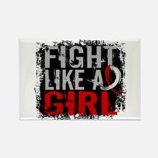 Fight Like a Girl 31.8 Oral Cancer Rectangle Magne