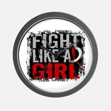 Fight Like a Girl 31.8 Oral Cancer Wall Clock