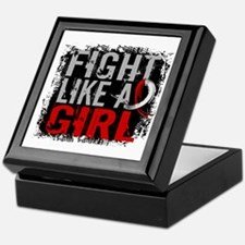 Fight Like a Girl 31.8 Oral Cancer Keepsake Box