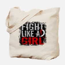 Fight Like a Girl 31.8 Oral Cancer Tote Bag