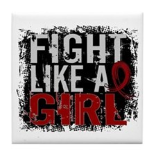Licensed Fight Like a Girl 31.8 Multi Tile Coaster
