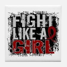 Licensed Fight Like a Girl 31.8 Multi Tile Coaster