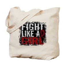 Fight Like a Girl 31.8 Multiple Myeloma Tote Bag