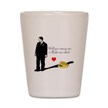Will you marry me Shot Glass