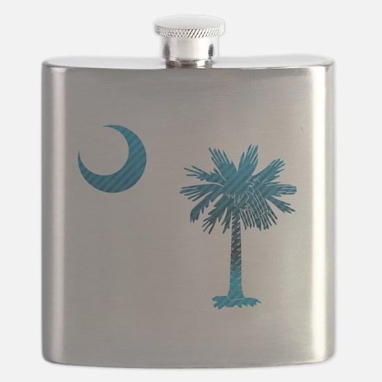 Palmetto & Cresent Moon Flask