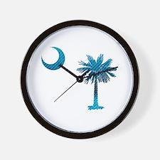 Palmetto & Cresent Moon Wall Clock