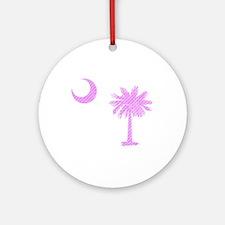 Palmetto & Cresent Moon Ornament (Round)