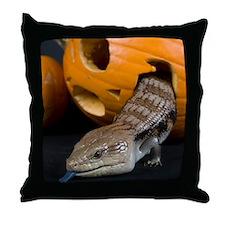 Lizard in Pumpkin Throw Pillow