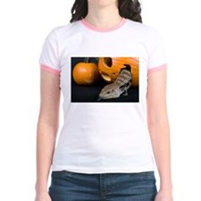 Lizard in Pumpkin Jr. Ringer T-Shirt