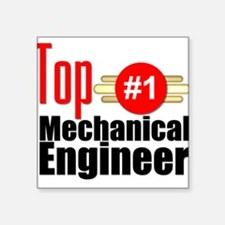 """Top Mechanical Engineer Square Sticker 3"""" x 3"""""""
