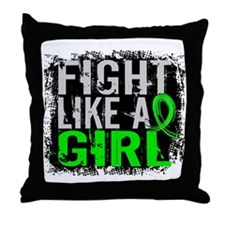 Fight Like a Girl 31.8 Lyme Disease Throw Pillow