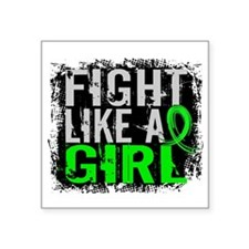 Fight Like a Girl 31.8 Lyme Disease Square Sticker