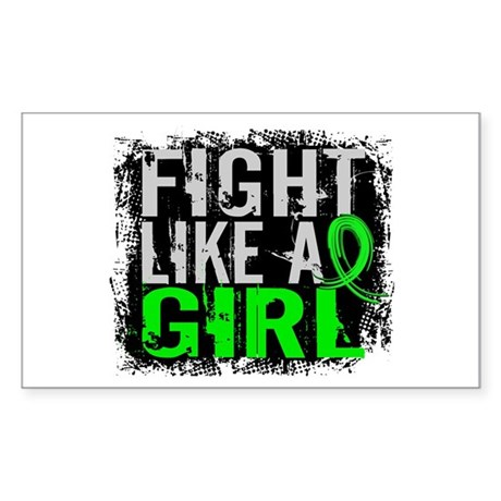 Fight Like a Girl 31.8 Lyme Disease Sticker (Recta