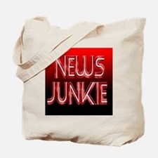 News Junkie Tote Bag