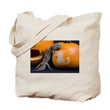Lizard On Pumpkin Tote Bag