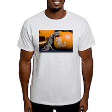 Lizard On Pumpkin Light T-Shirt