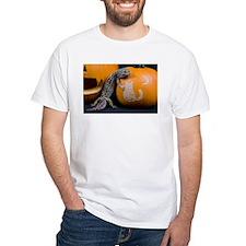 Lizard On Pumpkin White T-Shirt