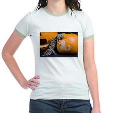 Lizard On Pumpkin Jr. Ringer T-Shirt