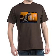 Lizard On Pumpkin Dark T-Shirt
