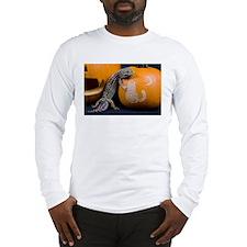 Lizard On Pumpkin Long Sleeve T-Shirt
