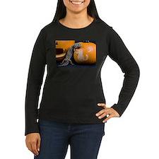 Lizard On Pumpkin Women's Long Sleeve Dark T-Shirt