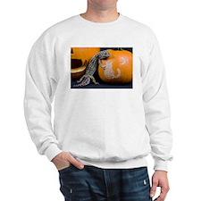 Lizard On Pumpkin Sweatshirt