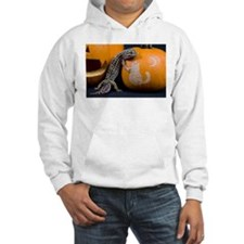 Lizard On Pumpkin Hooded Sweatshirt