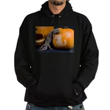 Lizard On Pumpkin Hoodie (dark)