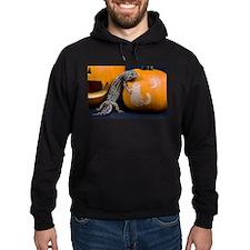 Lizard On Pumpkin Hoodie (dark)