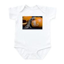 Lizard On Pumpkin Infant Bodysuit